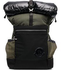 moncler extreme quilted backpack - green
