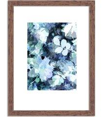 quadro decorativo azul abstrato branco madeira - médio