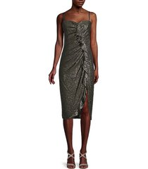 jonathan simkhai women's strapless sequin midi dress - silver sequin - size 2