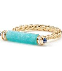 women's david yurman barrels ring with diamonds in 18k gold