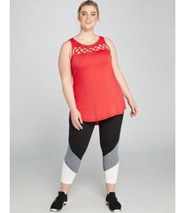 lane bryant women's livi capri power legging - colorblock hem 10/12 black