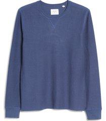 men's billy reid cotton & linen sweatshirt, size medium - blue