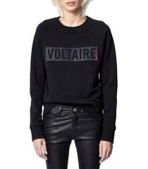 women's zadig & voltaire massy logo graphic sweatshirt