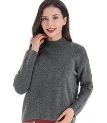 sweater cuello beatle corto grafito nicopoly
