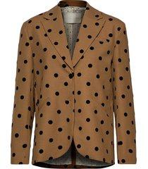 vina, 705 wool tailoring blazer kavaj brun stine goya