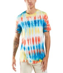guess men's tie dye logo t-shirt