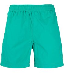 carhartt wip elasticated waist swim shorts - green