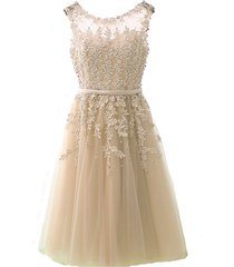 kivary simple tea length short prom homecoming dresses cocktail gowns champagne