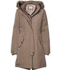 outdoor jacket no wo parka lange jas jas beige gerry weber edition