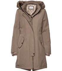 outdoor jacket no wo parka lange jas jas beige gerry weber edition