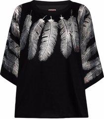 kapital opal oversize sweatshirt - black