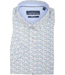 bos bright blue korte mouw blouse 106670/743