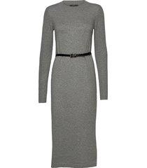 dresses flat knitted jurk knielengte grijs esprit collection