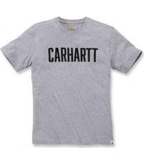 carhartt t-shirt men block logo s/s heather grey-l