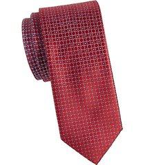 lifesaver print silk tie