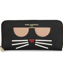 choupette continental faux leather wallet
