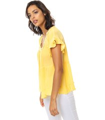 blusa amarilla asterisco