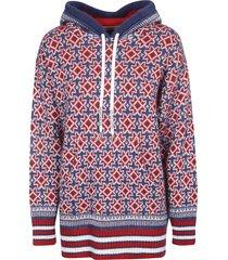 golden goose jacquard dalyna patchwork hoodie