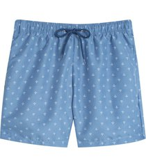 bermuda para hombre playa anclas color azul, talla xs