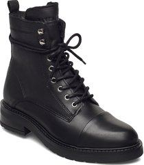 charley wool shoes boots ankle boots ankle boot - flat svart pavement