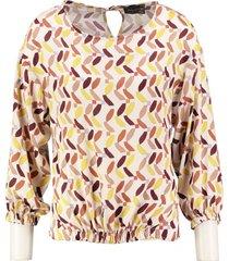 amélie & amélie shiny blouse 7/8e mouw polyester elastan