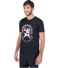 camiseta liga da justiça super-homem 1 - masculina - preto