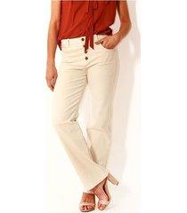 pantalon para mujer en algodón color-blanco-talla-12
