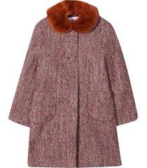 il gufo burgundy coat