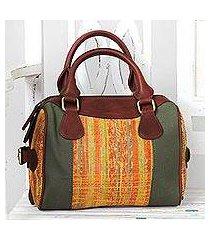 cotton handle handbag, 'bengal spice' (india)