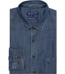 camisa dudalina jeans bolso masculina (jeans claro, 7)