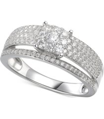cubic zirconia bridal ring in sterling silver