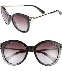 longchamp 55mm cat eye sunglasses in black at nordstrom