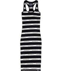 jurk mila stripe zwart