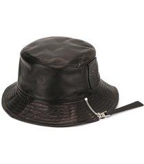 loewe logo-patch zip-detail bucket hat - black