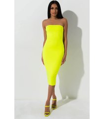 akira revel in you tube midi dress