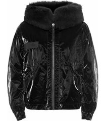 cropped parka m51 for woman with lamb fur
