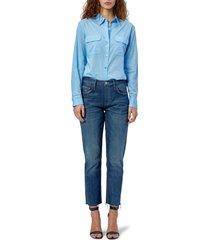 women's equipment signature cotton blouse, size x-small - blue