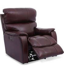 """hatherleigh 34"""" leather dual power recliner with usb power outlet"""