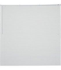 persiana horizontal em pvc off 130x80cm branca