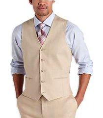 pronto uomo platinum modern fit linen suit separate vest tan