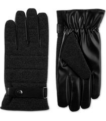 isotoner signature men's faux-wool smartouch gloves