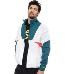 chaqueta reebok myt woven jacket blanco - calce regular