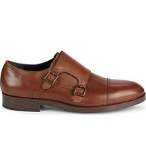 henry grand leather monk strap dress shoes
