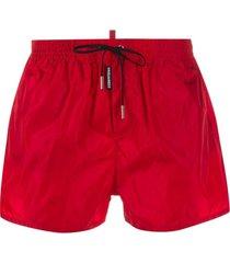 dsquared2 short de natação vermelho
