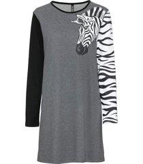 abito in felpa con zebra (grigio) - rainbow
