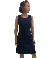 vestido bazz tubo pences azul marinho