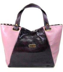 bolsa sacola em couro maria adna roxo - roxo - feminino - dafiti