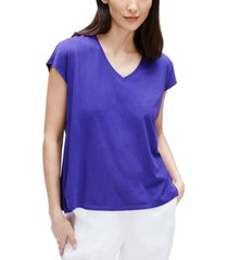 eileen fisher organic cotton top, available in regular and petite sizes