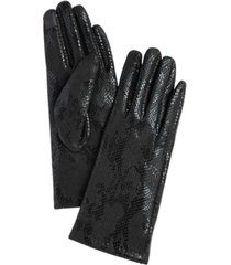 women's faux suede reptile touchscreen glove