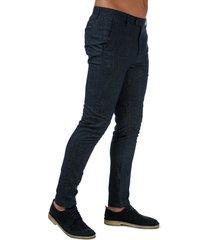 mens haloe super slim plain trousers